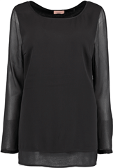 TRIANGLE Blusen Shirt schwarz