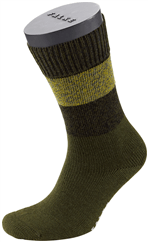 FALKE Mixed Stripe Socke braun