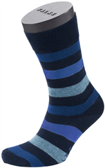 FALKE Mixed Stripe Socke blau