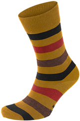 FALKE Mixed Stripe Socke ocker