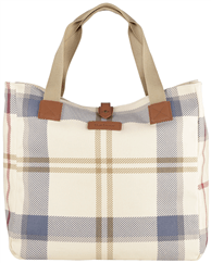 BARBOUR Summer Dress Tartan Shopper beige