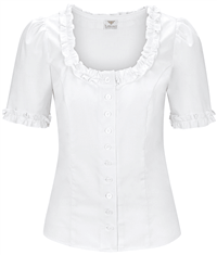 MOSER halbarm Bluse weiss