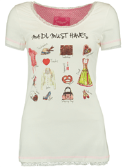 KR�GER DIRNDL T-Shirt MADL Must Haves weiss